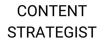 Content Strategist CNIP