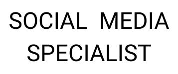 Social Media Specialist CNIP